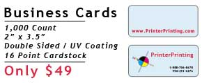 Online Business Card Printing Special