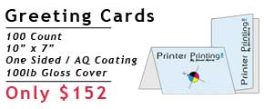 Online Greeting Card Printing Special
