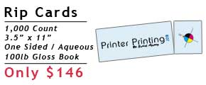 Online Rip Card Printing Specials