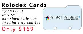 Online Rolodex Printing Specials