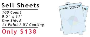 Online Sell Sheet Printing Specials