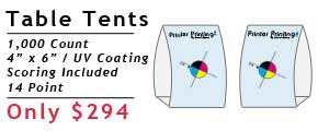 Online Table Tent Printing Services
