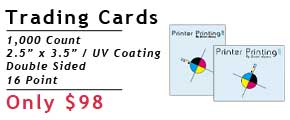Online Trading Card Printing Services