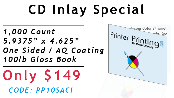 CD Inlay Printing Special