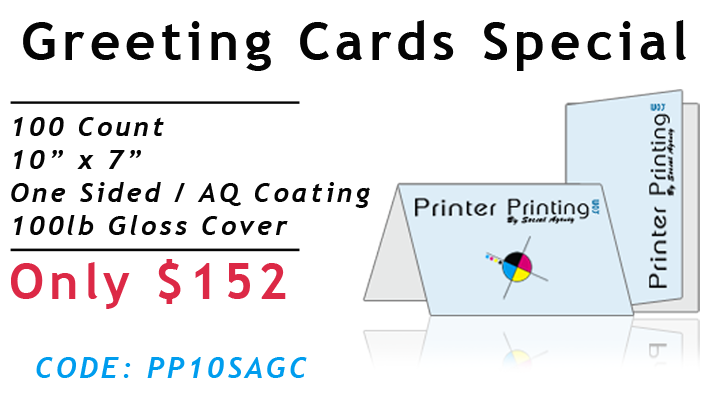 Greeting Card Printing Special