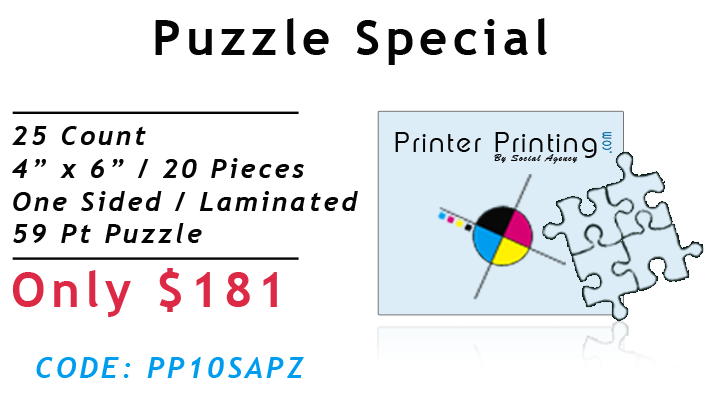 Puzzle Printing Special