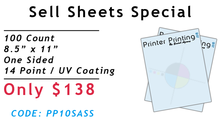 Sell Sheet Printing Special
