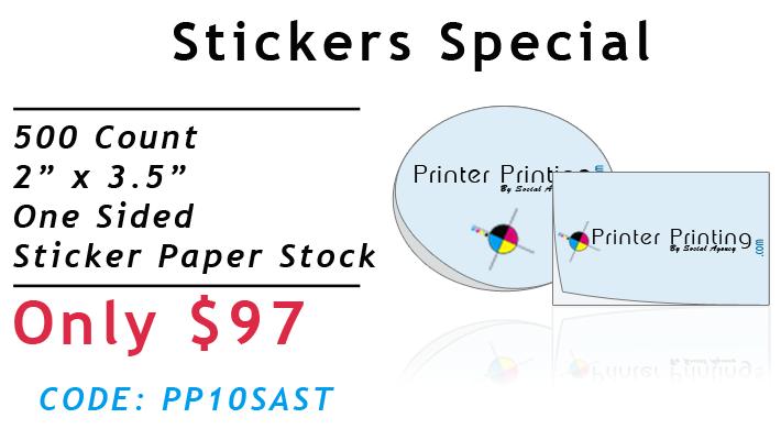 Sticker Printing Special